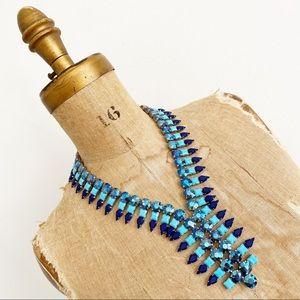 BANANA REPUBLIC blue crystal collar necklace.